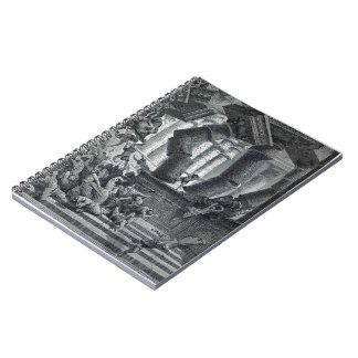 Gustave Dore: Death of Samson Spiral Notebook