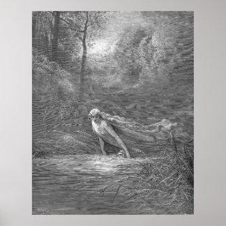 Gustave Dore Engraving Purgatory Illustration Poster