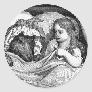 Gustave Dore - Little Red Riding Hood Classic Round Sticker
