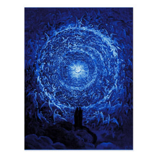 Gustave Dore The White Rose (blue) Postcard