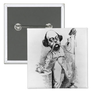 Gustave Flaubert  Dissecting Madame Bovary 2 Inch Square Button