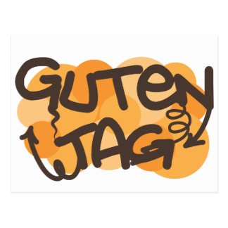 Guten tag German Hello in graffiti style Postcard