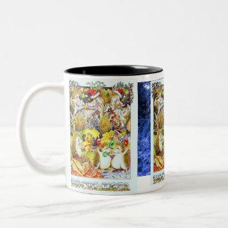 Guthram Hedgehog December Two-Tone Coffee Mug