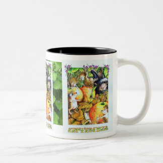 Guthram Hedgehog September Two-Tone Coffee Mug