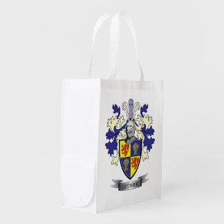 Guthrie Family Crest Coat of Arms Grocery Bag