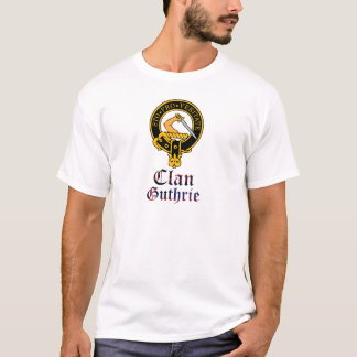 Guthrie scottish crest and tartan clan name T-Shirt