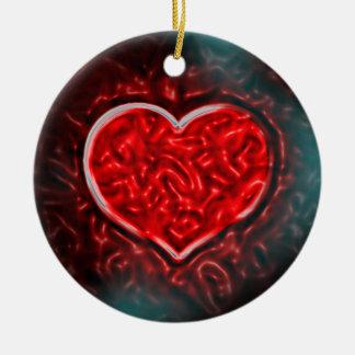 Gutsy Valentine Ceramic Ornament