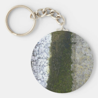 Gutter Trash -- Slime with concrete gutter. Basic Round Button Keychain