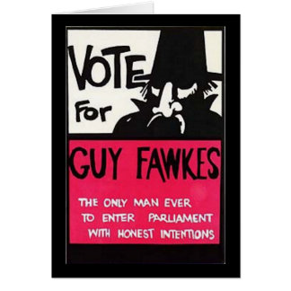 Guy Fawkes campaign Card