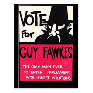 Guy Fawkes campaign Postcard