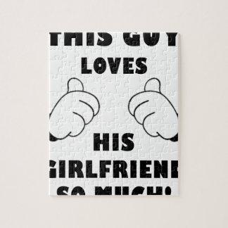 Guy loves Girlfriend Jigsaw Puzzle