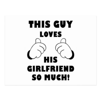 Guy loves Girlfriend Postcard