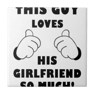 Guy loves Girlfriend Tile