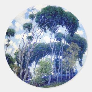 Guy Rose - Laguna Eucalyptus - Art Masterpiece Classic Round Sticker