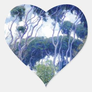Guy Rose - Laguna Eucalyptus - Art Masterpiece Heart Sticker