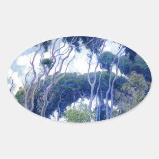 Guy Rose - Laguna Eucalyptus - Art Masterpiece Oval Sticker