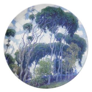 Guy Rose - Laguna Eucalyptus - Art Masterpiece Plate