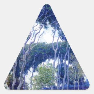 Guy Rose - Laguna Eucalyptus - Art Masterpiece Triangle Sticker