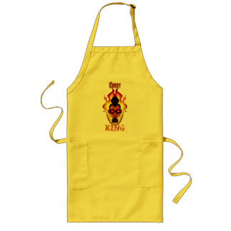 Guy - Shaded - Flames - 'Curry King' Long Apron
