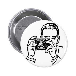 Guy with Camera Button. 2 Inch Round Button