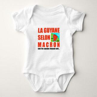 Guyana according to Macron is an island Baby Bodysuit