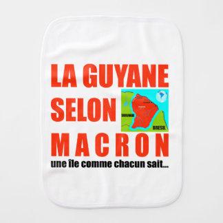 Guyana according to Macron is an island Baby Burp Cloths