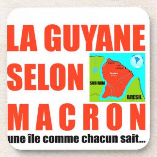 Guyana according to Macron is an island Beverage Coasters