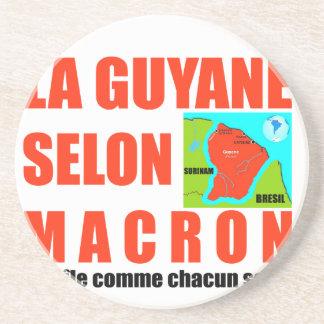Guyana according to Macron is an island Drink Coaster