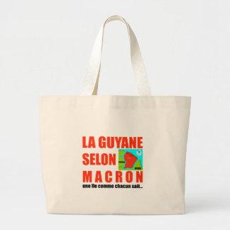 Guyana according to Macron is an island Large Tote Bag