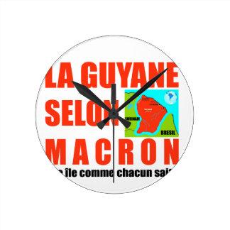 Guyana according to Macron is an island Round Clock