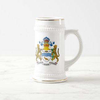 Guyana Coat Of Arms Beer Stein