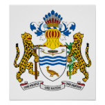 Guyana Coat Of Arms Posters