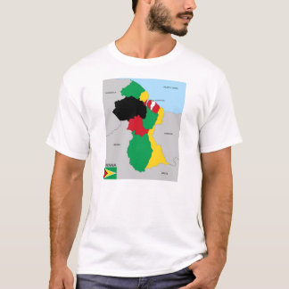guyana country political map flag T-Shirt