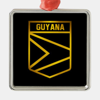 Guyana Emblem Metal Ornament