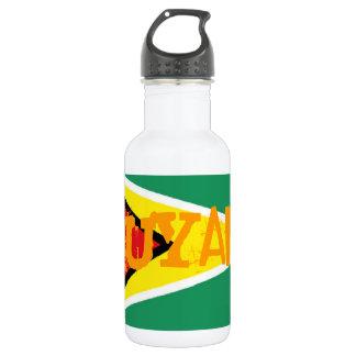Guyana flag 532 ml water bottle