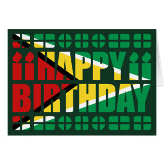 Guyana Flag Birthday Card