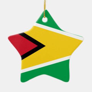 Guyana Flag Ceramic Ornament