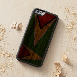 Guyana Flag iPhone 6 Carved® Walnut iPhone 6 Bumper