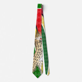 Guyana Flag Jaguar Tie by RokCloneDesigns