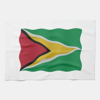Guyana flag kitchen towel