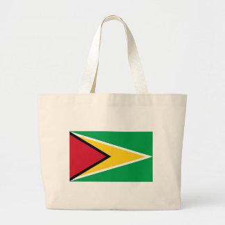 Guyana Flag Large Tote Bag