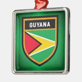 Guyana Flag Metal Ornament