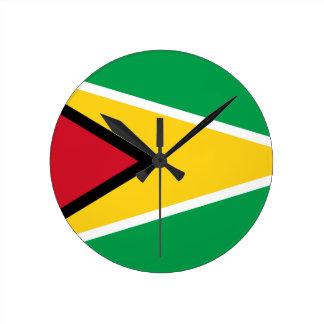 Guyana Flag Round Clock