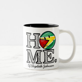 Guyana Flag Smiley House Warmer Two-Tone Coffee Mug