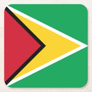 Guyana Flag Square Paper Coaster