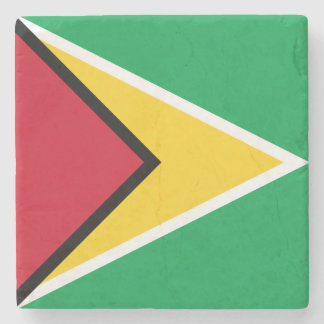 Guyana Flag Stone Coaster