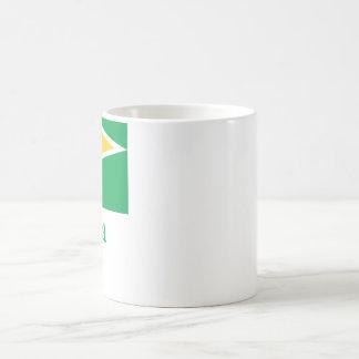 Guyana Flag with Name Coffee Mug