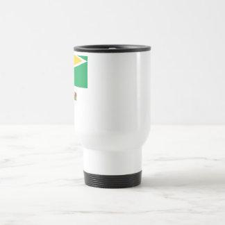 Guyana Flag with Name Travel Mug