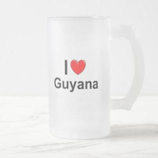 Guyana Frosted Glass Beer Mug
