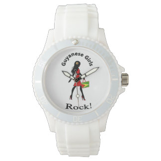 Guyana Girl Watch - white